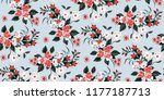 seamless floral pattern in... | Shutterstock .eps vector #1177187713