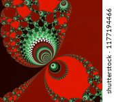 Red Love Fractal Art  Abstract...