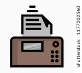 coloured outline fax machine... | Shutterstock .eps vector #1177202560