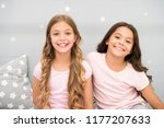 girls children with long curly... | Shutterstock . vector #1177207633