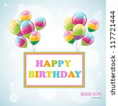 colorful birthday background... | Shutterstock .eps vector #117721444