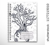 notebook cover template with...   Shutterstock .eps vector #1177215010