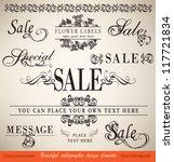 vector set  calligraphic floral ... | Shutterstock .eps vector #117721834