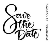 save the date modern... | Shutterstock .eps vector #1177219993