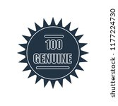 100 genuine icon isolated on... | Shutterstock .eps vector #1177224730