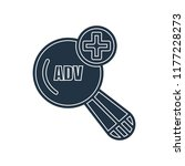 advanced search icon isolated... | Shutterstock .eps vector #1177228273
