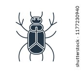 beetle icon vector isolated on... | Shutterstock .eps vector #1177230940