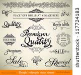 vector set  calligraphic floral ... | Shutterstock .eps vector #117724183