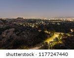 night view of landmark stoney... | Shutterstock . vector #1177247440