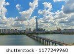 seoul subway and han gang river.... | Shutterstock . vector #1177249960
