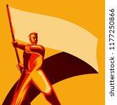 revolution poster. man holding... | Shutterstock .eps vector #1177250866