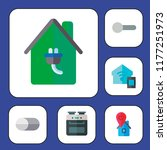 switch icon set. smart home... | Shutterstock .eps vector #1177251973