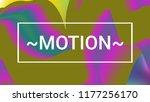 fluid shapes. liquid neon... | Shutterstock .eps vector #1177256170