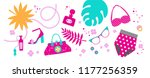 set with fashion accessories.... | Shutterstock .eps vector #1177256359