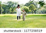muslim brother and sister... | Shutterstock . vector #1177258519