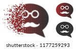 grandfather smiley message icon ... | Shutterstock .eps vector #1177259293