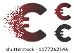 euro icon in fractured  dotted... | Shutterstock .eps vector #1177262146