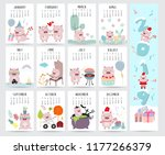 Cute Monthly Calendar 2019 With ...