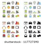 communication icons set.vector... | Shutterstock .eps vector #117727390