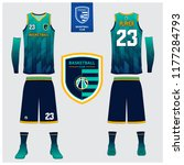 basketball uniform or sport... | Shutterstock .eps vector #1177284793