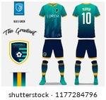 soccer jersey or football kit... | Shutterstock .eps vector #1177284796