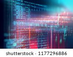programming code abstract... | Shutterstock . vector #1177296886