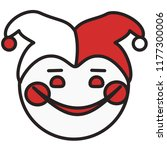 emoticon with smiling circus... | Shutterstock .eps vector #1177300006