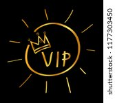 golden doodle sign vip  at... | Shutterstock .eps vector #1177303450