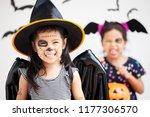 happy asian little child girl... | Shutterstock . vector #1177306570