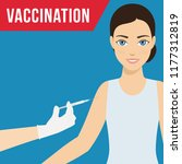 vaccination and women health... | Shutterstock .eps vector #1177312819