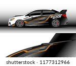 car wrap graphic vector.... | Shutterstock .eps vector #1177312966