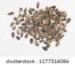 Sunflower Seeds White Background - Fine Art prints