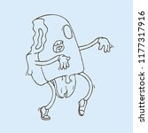 hand drawn dot work vector... | Shutterstock .eps vector #1177317916