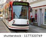 modern electric trolley wending ... | Shutterstock . vector #1177320769