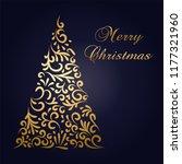 elegante christmas tree... | Shutterstock .eps vector #1177321960
