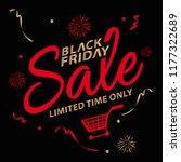 black friday sale design... | Shutterstock .eps vector #1177322689