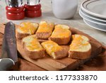 fresh garlic bread with... | Shutterstock . vector #1177333870