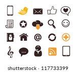 internet communication icons | Shutterstock .eps vector #117733399