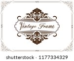 decorative frame in vintage... | Shutterstock .eps vector #1177334329