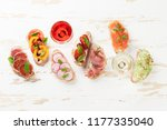 brushetta or traditional... | Shutterstock . vector #1177335040