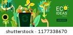 ecological restoration header... | Shutterstock .eps vector #1177338670