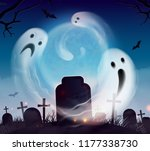 ghosts halloween realistic