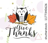thanksgiving day. logo  text... | Shutterstock .eps vector #1177340626