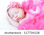 sleeping small princess in... | Shutterstock . vector #117734128