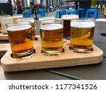 beer tasting   drinking from... | Shutterstock . vector #1177341526