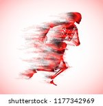 human skeleton running.... | Shutterstock . vector #1177342969