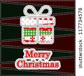 christmas greeting card.... | Shutterstock .eps vector #117734578