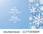 merry christmas and happy new... | Shutterstock .eps vector #1177345849