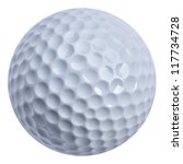 Golf Ball Isolated With Clippi...