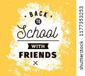 back to school. isolated vector ... | Shutterstock .eps vector #1177353253